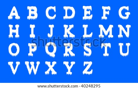 Icing alphabet. Capital letters