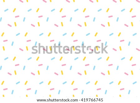 icing sweet color sugar seamless pattern background vector