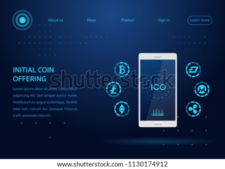 ico. initial coin offering webpage design