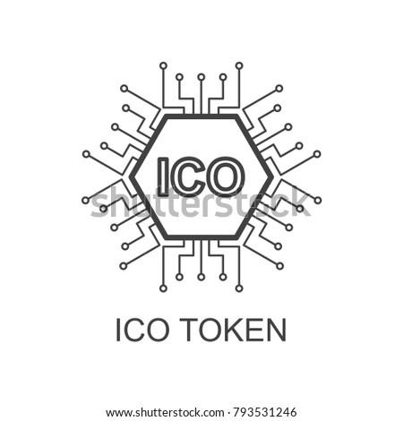 ico token icon outline