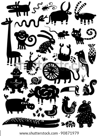 icon animal set