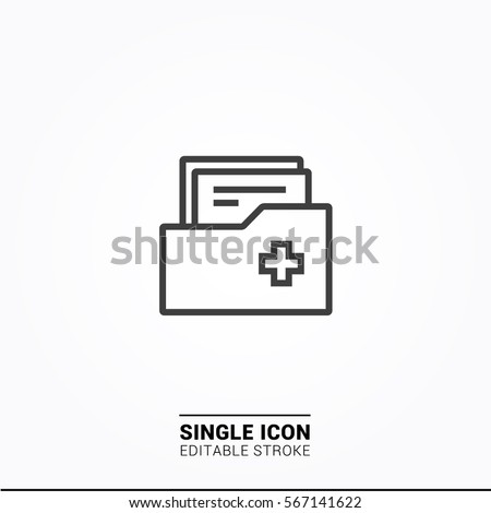 Icon archive report Single icon graphic design