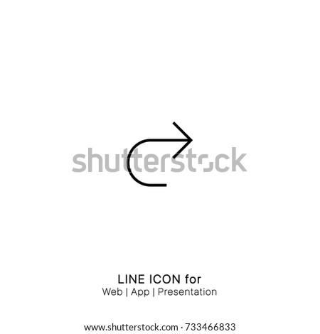 Icon Arrows Redo graphic design single icon vector