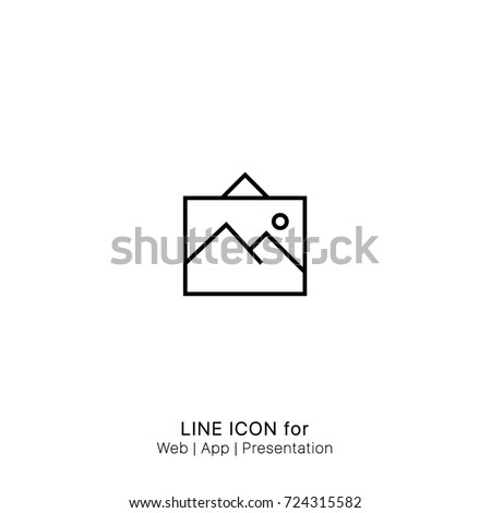 Icon Art frame painting picture graphic design single icon vector