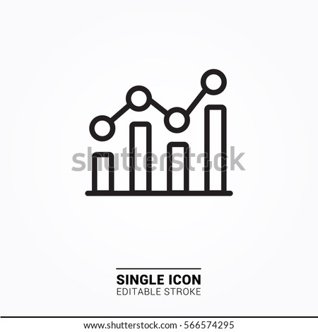 Icon bar chart single icon simple graphic designs