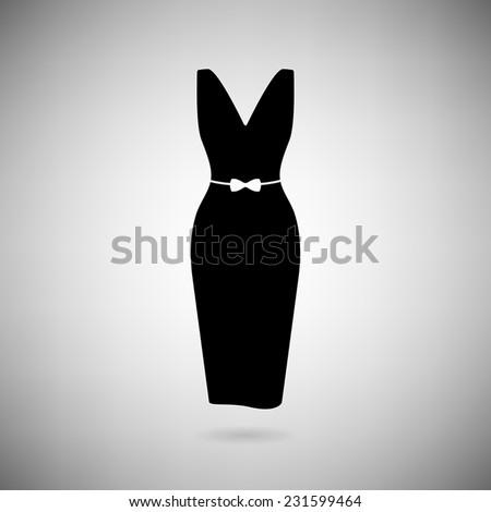icon black dress on light