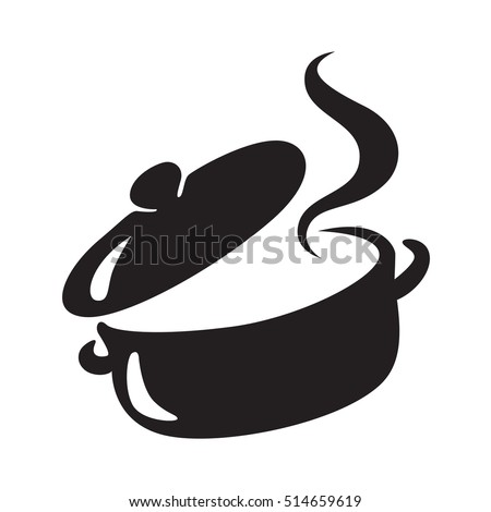 icon black pot, vector