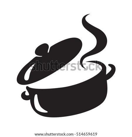 icon black pot, vector