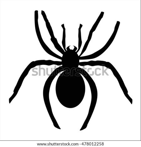 icon black spider icon black