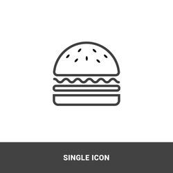 Icon burger Single Icon  Graphic Design