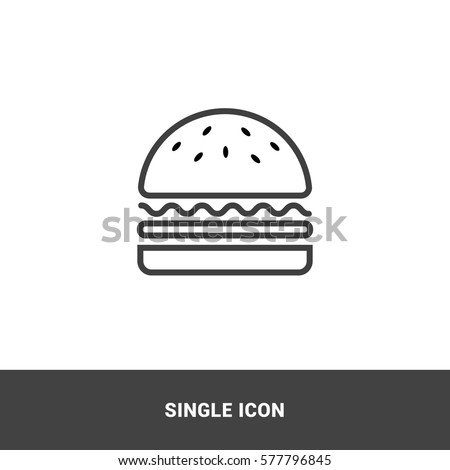Icon burger Single Icon  Graphic Design