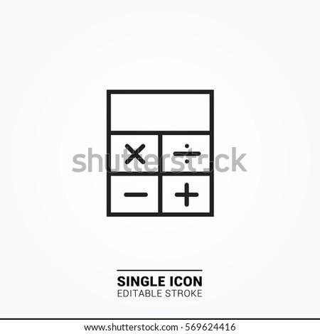 Icon calculator Single Icon Graphic Design