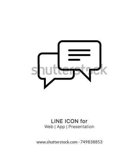 Icon chat graphic design single icon vector