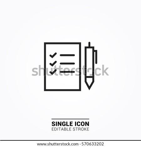 Icon checklist Single Icon Graphic Design