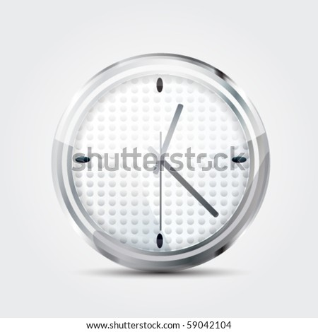 Icon clock. Vector detailed illustration.