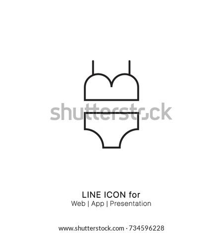 Icon clothes clothing fashion swimwear underwear woman womens graphic design single icon vector