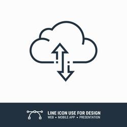 Icon cloud sync graphic design single icon vector illustration
