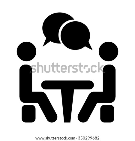 Shutterstock Icon Conference. People sitting around the table talking.