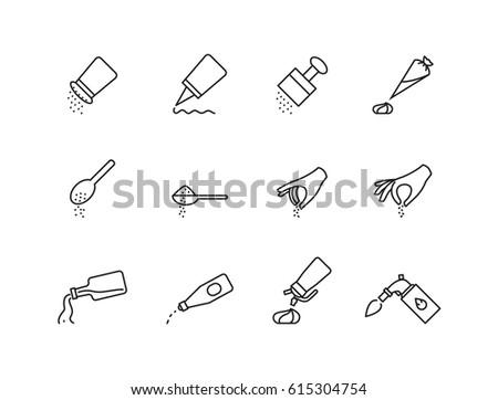 icon cook, vector