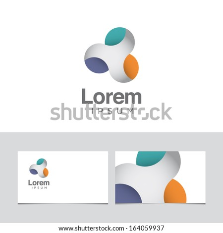 Icon design element with business card template