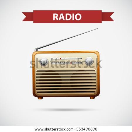 Icon design for radio illustration