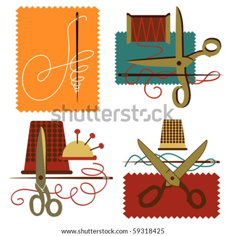 Icon dressmaking vector letter A atelier