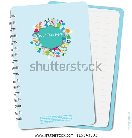 Icon Education cover on white background, vector format