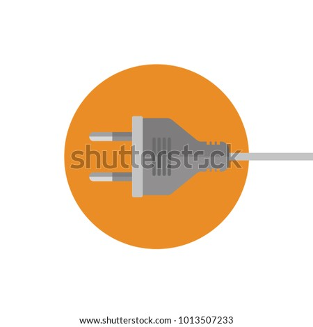 Icon electric plug. Electric plug for the socket. Modern vector illustration isolated background.