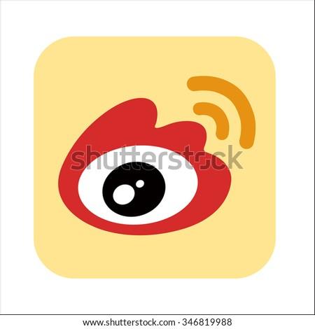 Icon eye vector logo isolated