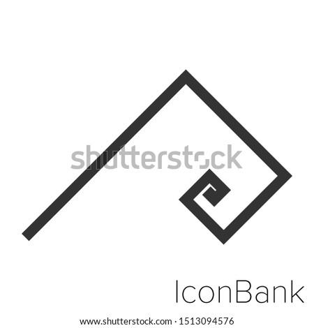 Icon fibonacci radio in black and white Illustration.