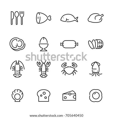 icon food, vector