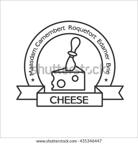 Icon for cheese, cheese knife, cheese knife, cheese logo, logo cheese, cheese, vector icon.
