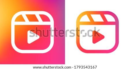 icon for social media, line vector illustration
