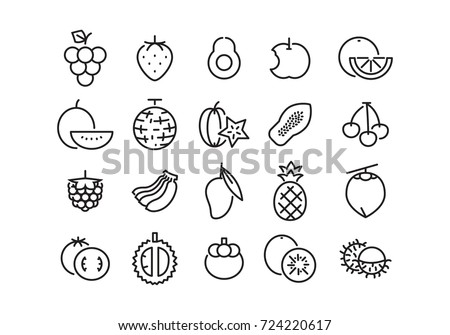 icon fruit, vector