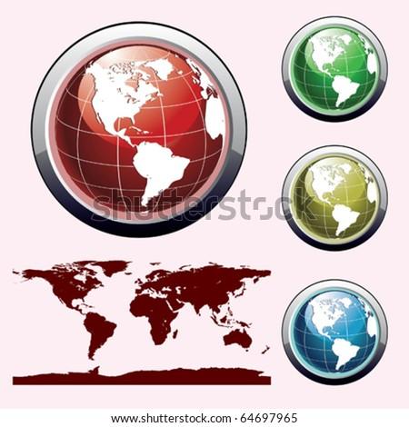 icon globes
