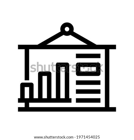 Icon Graphical Representation With Style Outline Stock photo ©