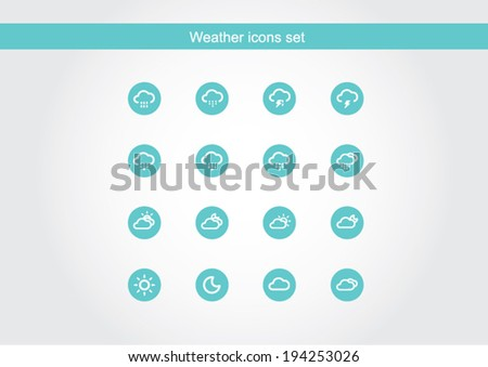 icon, green icon, icon weather, vector of icon weather