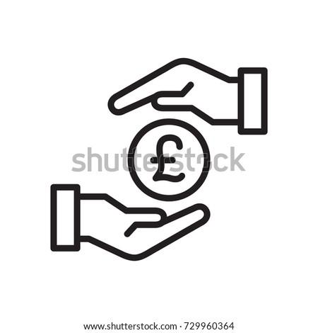 icon hand money