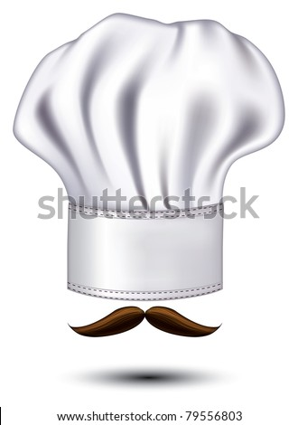 icon hats chef with a mustache vector