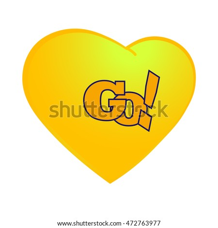 icon heart color is  yellow