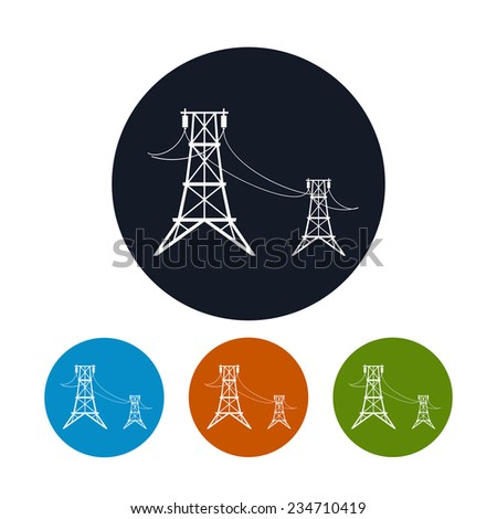 icon high voltage power lines