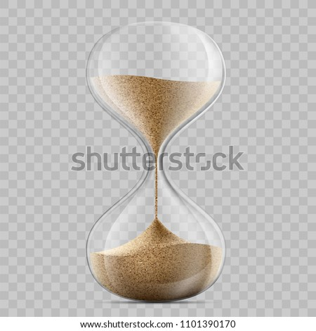 Icon hourglass. Template sandglass on a transparent background. Stock vector illustration.