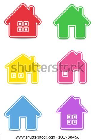 Icon houses - stock vector