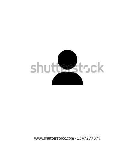 Icon, icon in trendy flat style isolated on background, Logo, app, Ui, Profile picture, Person, Avatar, User