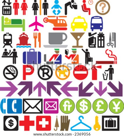 icon, icon set, man, woman - stock vector