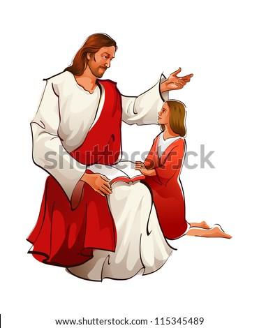 icon Jesus - stock vector
