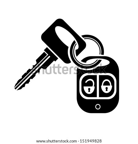 Vector Images Illustrations And Cliparts Icon Key With Car Alarm