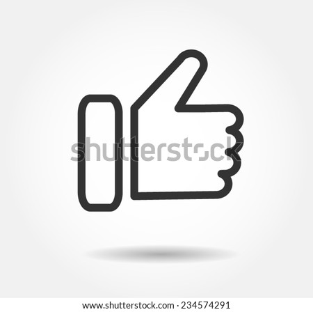 icon like Facebook, like button , like logo  vector illustration eps10 jpeg download