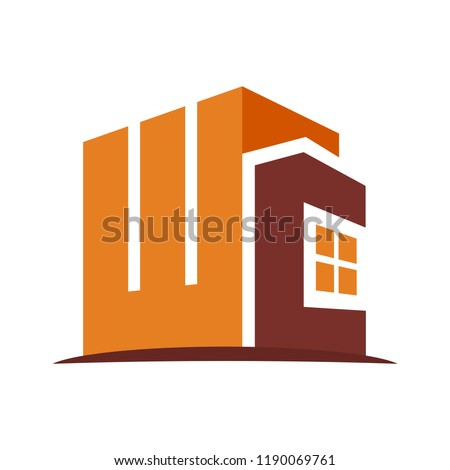 icon logo for the construction business, with combination of the initials W & C