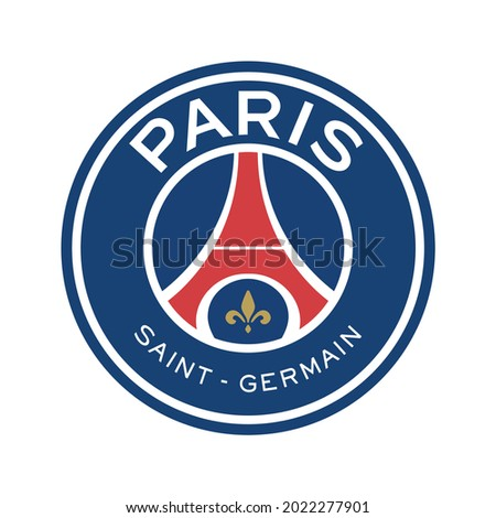 icon logo vector Paris Saint-Germain, Paris SG, Paris or PSG compete in Ligue 1, the top division of French football Qatar Sports Investments QSI Photo stock ©
